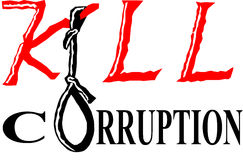 Kill corruption. It is slogan against corruption, to make our world's environment corruption free Vector Illustration