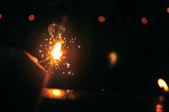 Kill darkness with light. Diwali Indian festival of lights Royalty Free Stock Photography