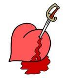 Kill heart. Creative design of kill heart Royalty Free Stock Photos