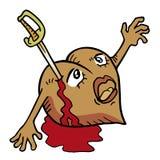 Kill heart. Creative design of kill heart Stock Photo