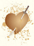 Kill heart. Creative design of kill heart Stock Images