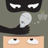 Kill idea. Kill bulb idea from ahead.The negative thinking. Leadership concept. Vector Royalty Free Stock Image