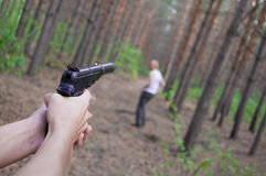 Kill Of Man In Forest Royalty Free Stock Images