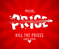 Kill the prices design Royalty Free Stock Images