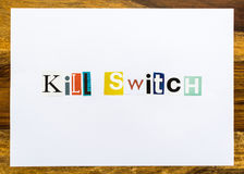 Kill Switch - note on desk Stock Photography