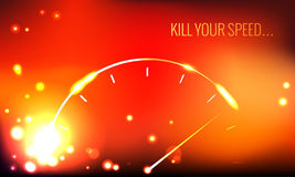 Kill your speed. Vector poster. Kill your speed. Abstract speedometer Royalty Free Stock Images