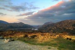 killarney gór zmierzchu dolina zdjęcia royalty free