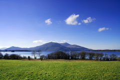 Killarney lake with mountains Royalty Free Stock Photo