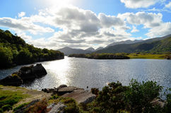 Killarney Lake under backlight (Ireland) Stock Photo