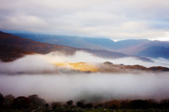 Killarney National Park. Foggy mountains in Killarney National Park, Ireland Royalty Free Stock Photos