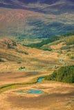 Killarney National Park landscape. Grassland and mountains along the Ring of Kerry road,  Killarney National Park, Ireland Stock Photo