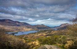 Killarney National Park landscape. Mountains and lakes in the Killarney National Park, Ireland Royalty Free Stock Image