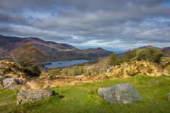 Killarney National Park landscape. Mountains and lakes in the Killarney National Park, Ireland Stock Image
