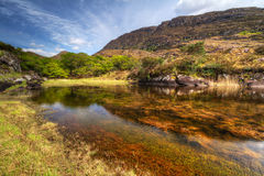 Killarney National Park mountains. Killarney scenery with mountains reflected in lake, Ireland Royalty Free Stock Photos