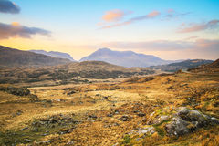Killarney pass in county Kerry at sunset Royalty Free Stock Photography