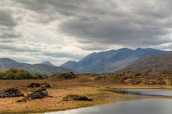 Killarney scenery with mountains and lake Stock Photo