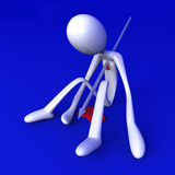 Killed. 3D rendered Illustration. Got killed by a speer Royalty Free Stock Image