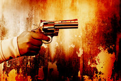 Killer With Gun Royalty Free Stock Photos