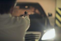 Killer with gun. Royalty Free Stock Photo