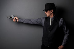 Killer and mafia man Stock Photography