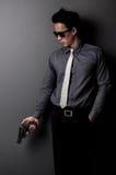 Killer and mafia man Royalty Free Stock Image