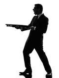 Killer man silhouette Stock Image