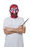 Killer with a mask Royalty Free Stock Photography