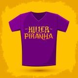 Killer Piranha - Lettering vector emblem Royalty Free Stock Photos