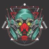 Killer robot fighter royalty free illustration