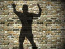 Killer shadow Royalty Free Stock Photos