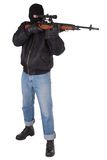 Killer with sniper rifle Royalty Free Stock Photos