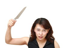 Killer woman with knife Royalty Free Stock Images