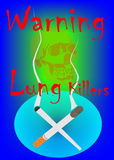 We are killers. Poster for stop smoking project. Created in Coreldraw10 Royalty Free Stock Photography