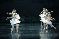 By the killing curse the girl into a swan-ballet Swan Lake Royalty Free Stock Photography