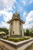 The Killing Fields of Choeung Ek in Phnom Penh, Cambodia. PHNOM PENH, CAMBODIA - MAY 07,2016 : Skull Pagoda at The Killing Fields of Choeung Ek in Phnom Penh Stock Photos