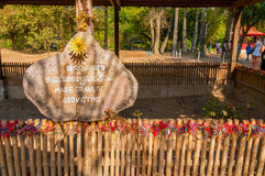 Killing Fields gravesite Stock Image