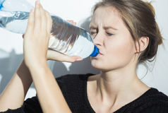 Killing hunger with water Royalty Free Stock Photos