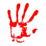 Killing stop concept. Hand bloody imprint. Vector illustration for your design. On white background Royalty Free Stock Photos