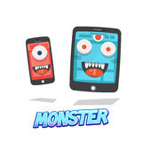 Killing time monster. smart phone and tablet. virus -  Stock Images