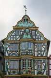 Killingerhaus in Idstein, Germany. Killingerhaus is one of Germany's most important timber-frame houses with regards to art history, Idstein, Germany stock photography