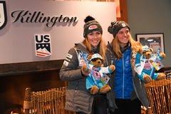 A press conference after the Killington Cup at Killington Ski Resort stock image