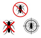 Kills cockroaches. Signal for insecticide that kills cockroaches Stock Photo