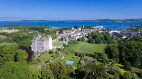 Killyleagh Castle and village. county Down, Northern Ireland stock photos