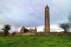 Kilmacduagh Abbey Royalty Free Stock Photo