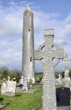 kilmacduagh monasteru wierza Fotografia Royalty Free