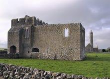 Kilmacduagh monastery Stock Images