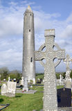 Kilmacduagh monastery tower Royalty Free Stock Photography