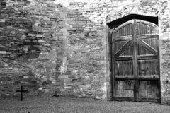 Kilmainham Gaol. A former prison in Kilmainham, Dublin, Ireland, used by British to imprison the Irish revolutionaries stock photography