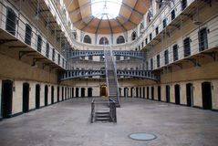 Kilmainham Gaol - Old Dublin prison. Kilmainham Gaol (Príosún Chill Mhaighneann) is a former prison, located in Inchicore in Dublin, which is now a museum Royalty Free Stock Image