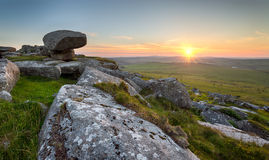 Kilmar Tor on Bodmin Moor in Cornwall Royalty Free Stock Images